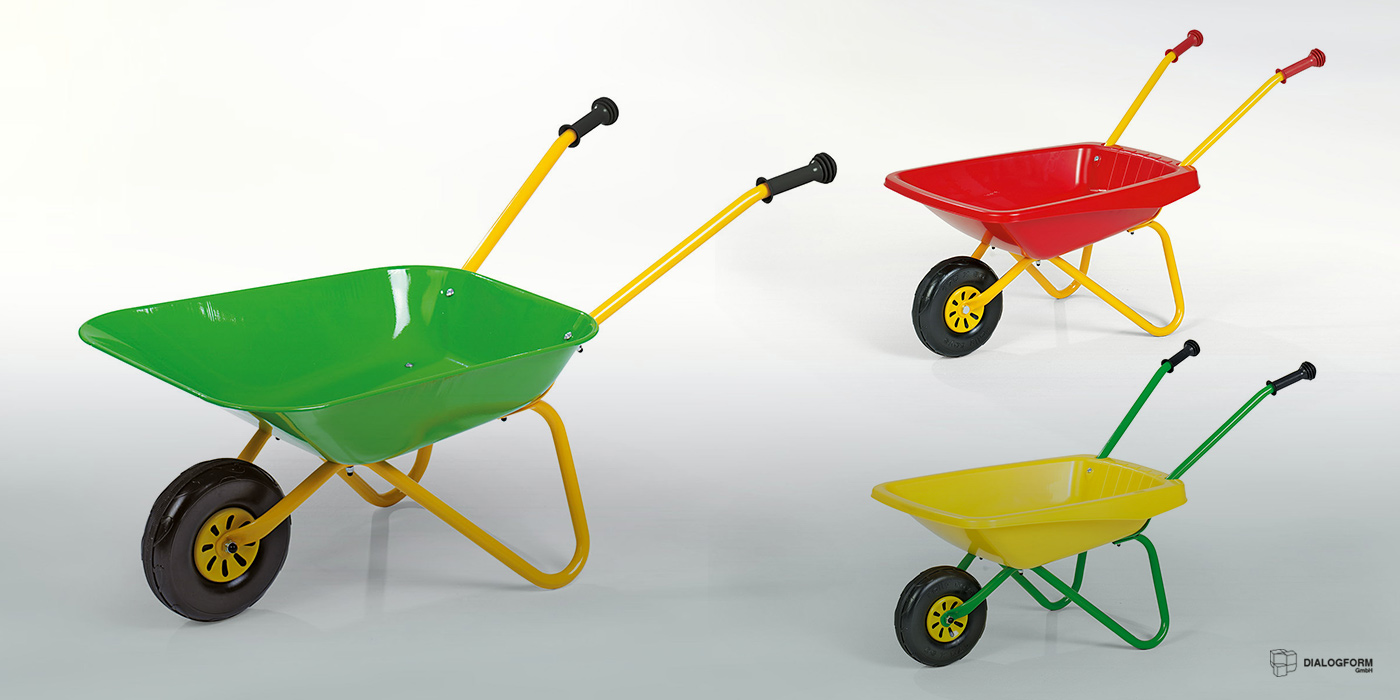 Industrial Design / Industrie Gestaltung Dialogform - Spielzeug Schubkarre - rollyToys